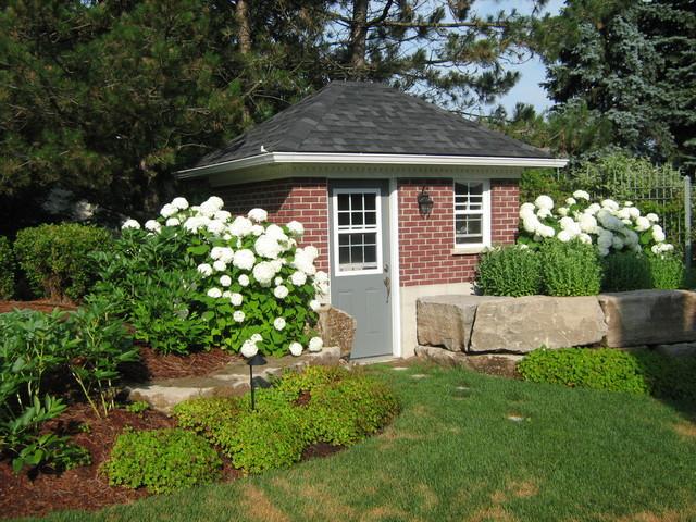 Brick garden shed traditional garden toronto by for Traditional garden buildings
