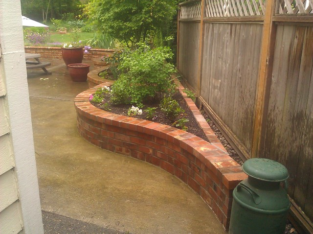 Brick planter for Garden box landscape and design