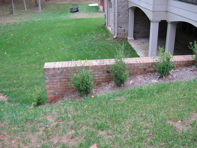 Brick Retaining Wall  landscape