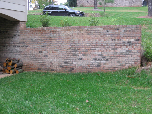 how to make a retaining wall with bricks