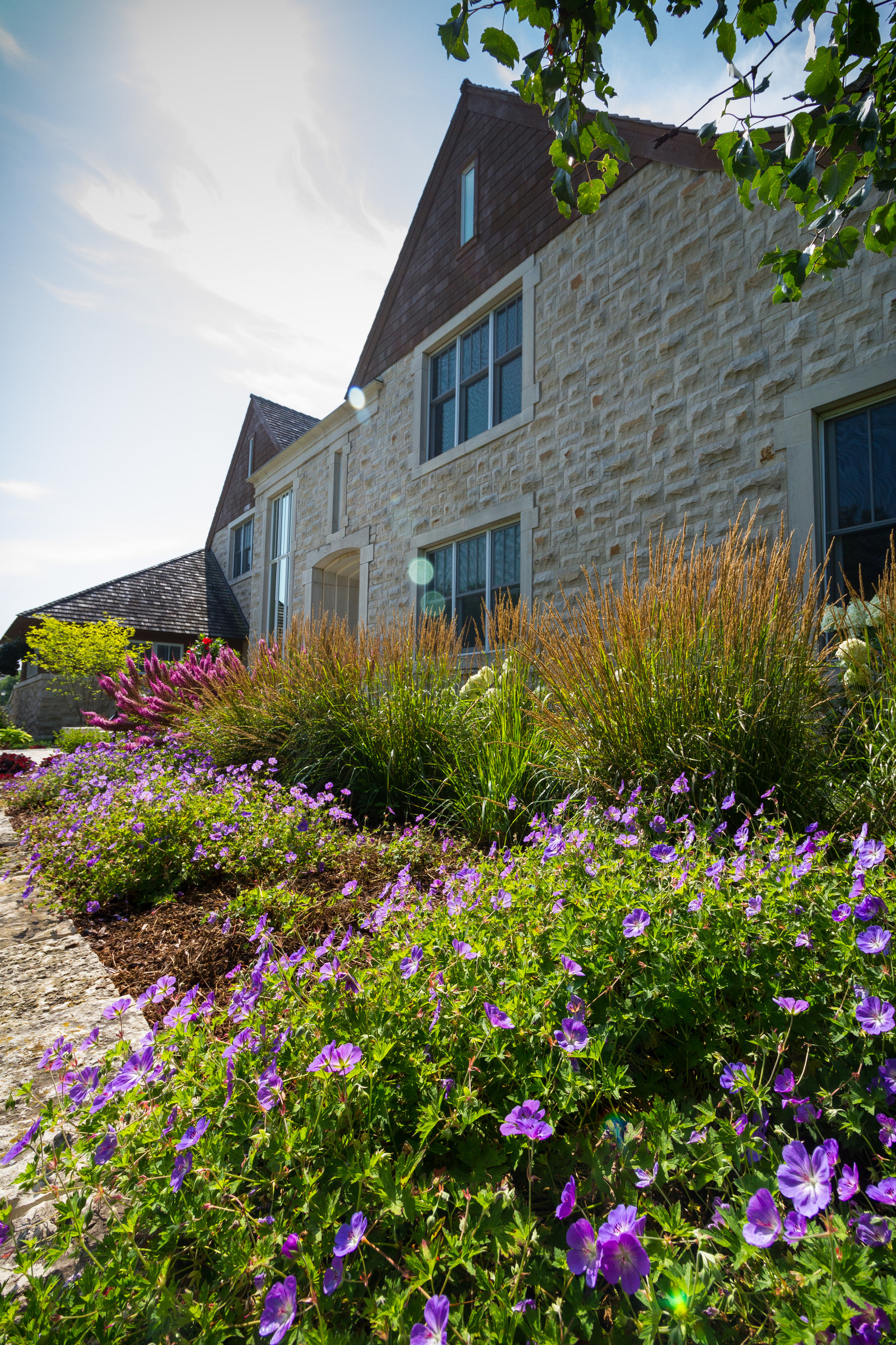 Contemporary Front Yard Landscape - Brookfield