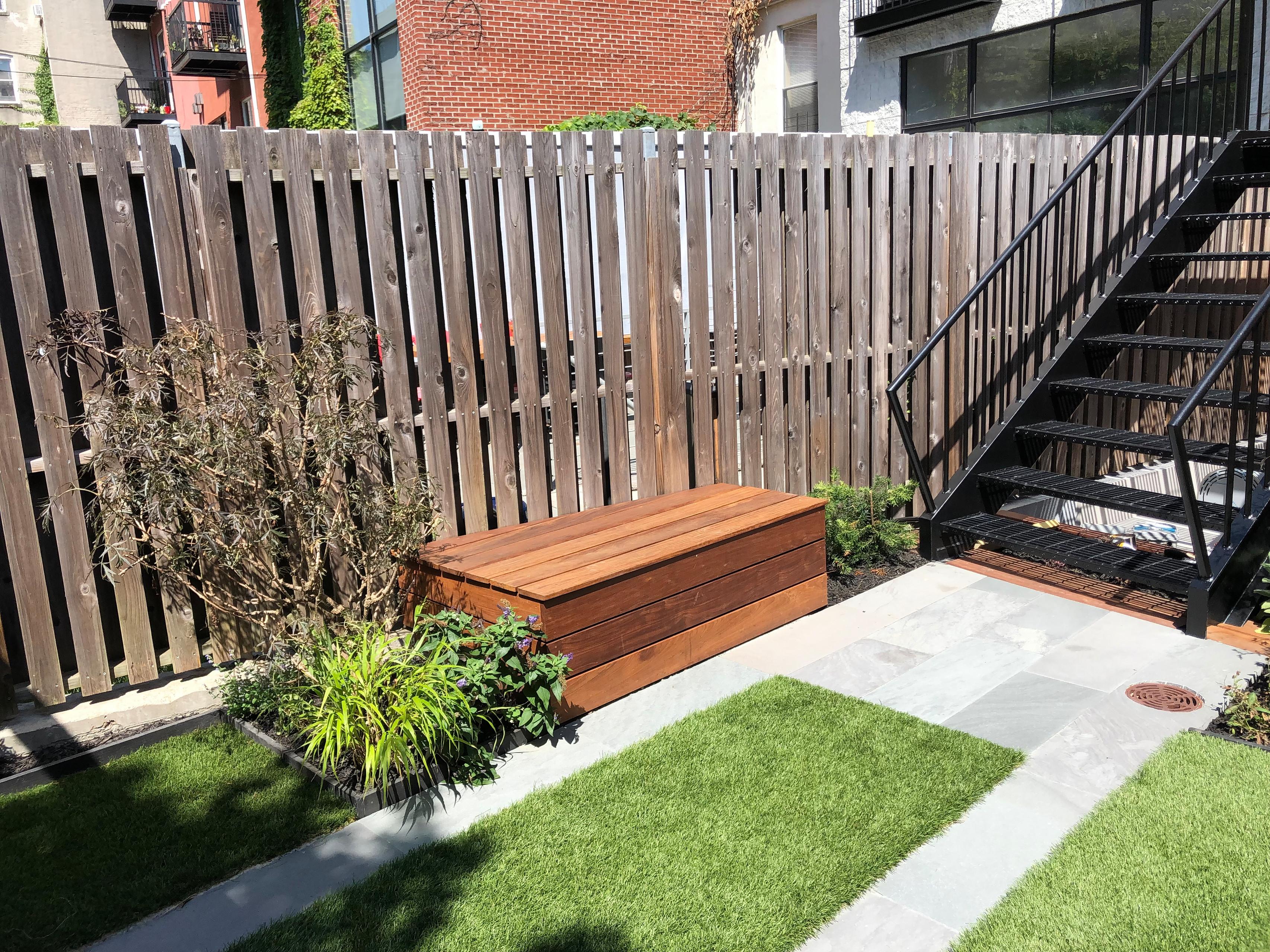 Brooklyn backyard with small playground