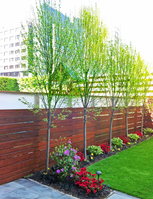Brooklyn Nyc Townhouse Landscape Design Backyard Artificial Turf