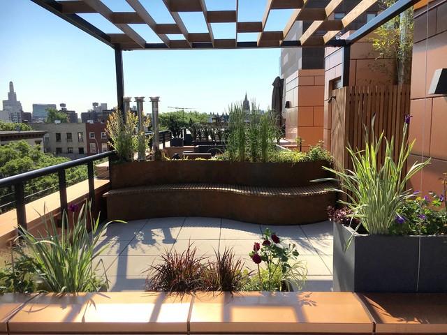 Brooklyn Rooftop Garden 6 Modern Garden New York By Little