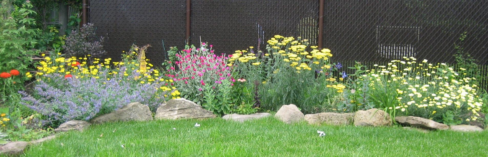 Brown Fence Garden