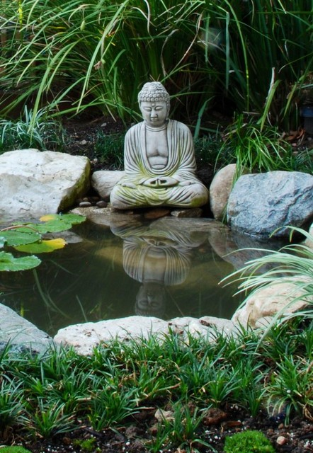 Buddha Pond Asian Landscape Los Angeles By Mystic