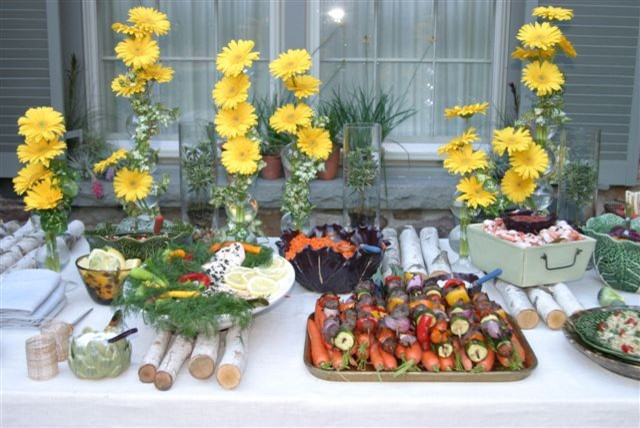 Buffet Setting traditional landscape