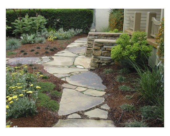 Flagstone Path Designs : Flagstone walkway home design ideas pictures remodel and