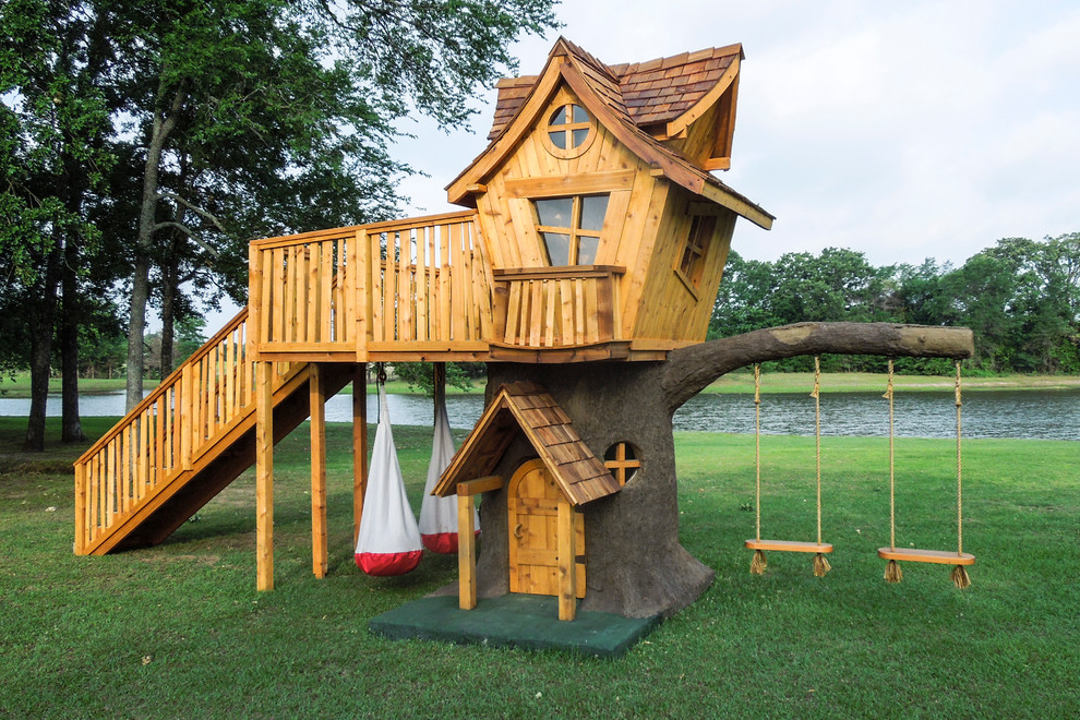 Inspiration for a large eclectic outdoor playset in Dallas.
