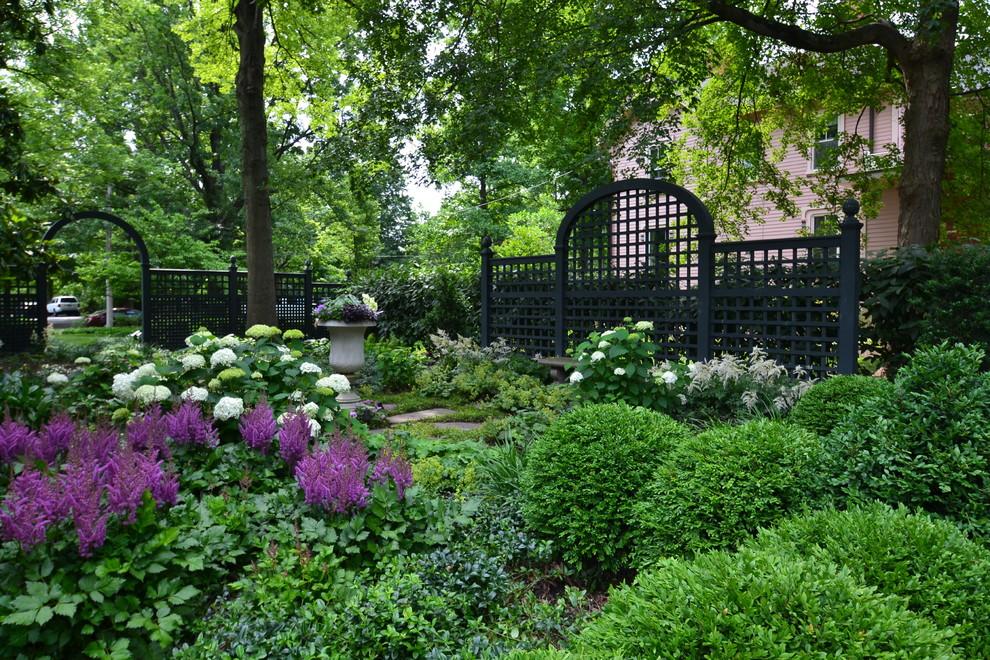 Design ideas for a traditional shade backyard landscaping in Cincinnati.