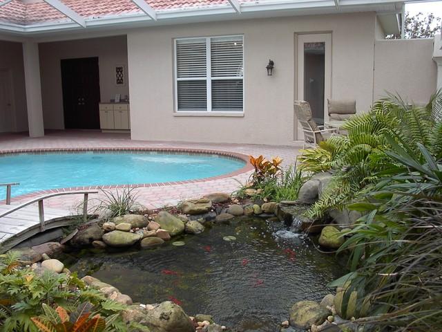 Cabana Courtyard Designs traditional-landscape