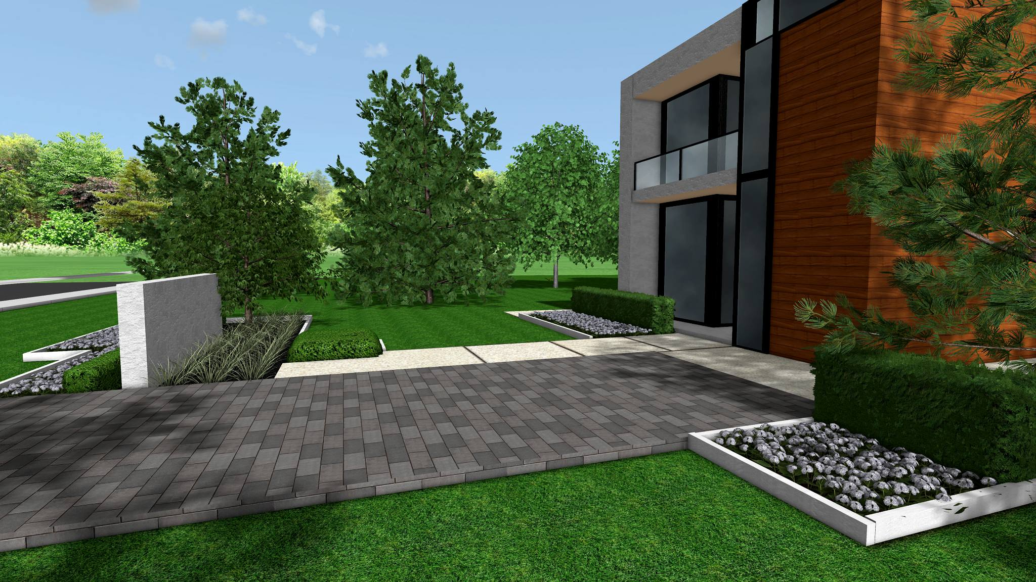 Caledon Contemporary Modern Front Yard