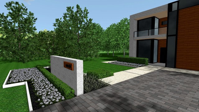 Contemporary modern front yard modern landscape for Garden design ideas canberra