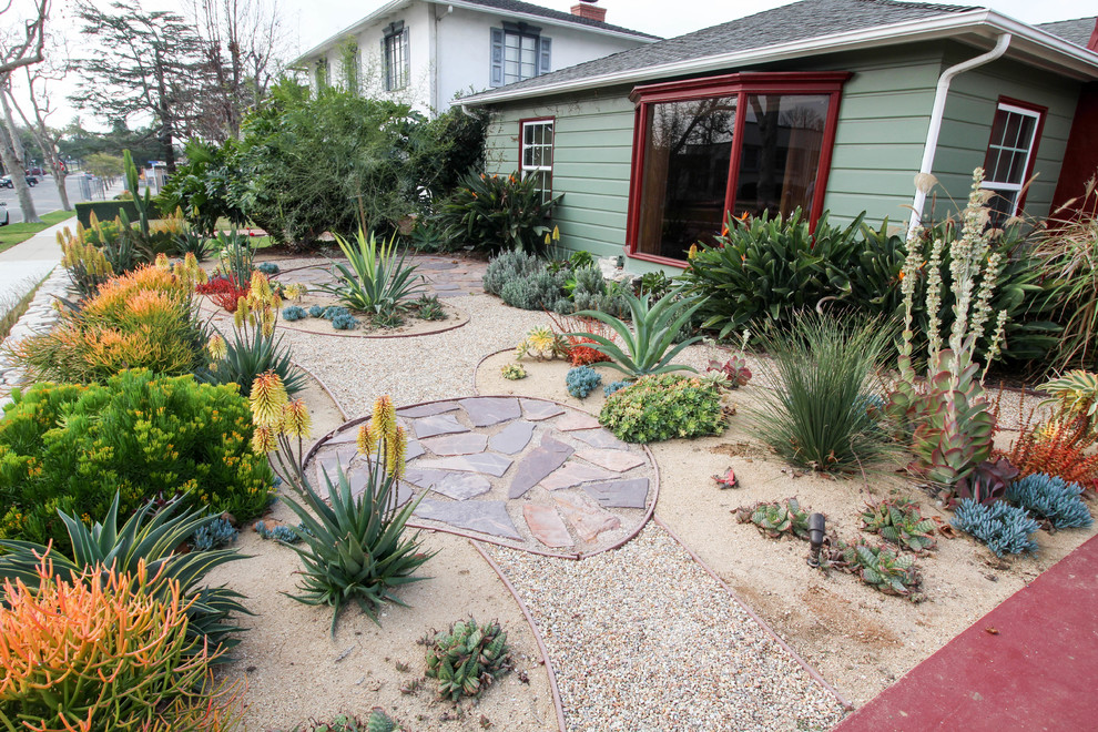 California Heights Craftsman Xeriscape Eclectic Landscape Los Angeles By California Eco Design Inc