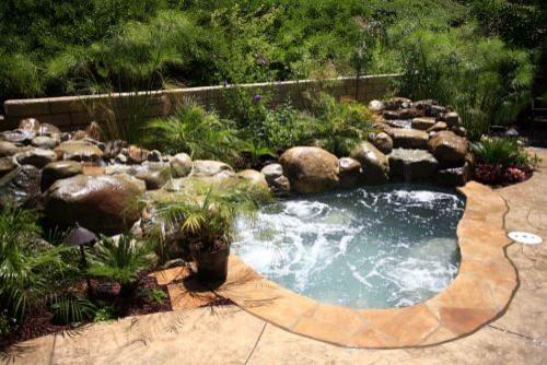 California Pools traditional-landscape