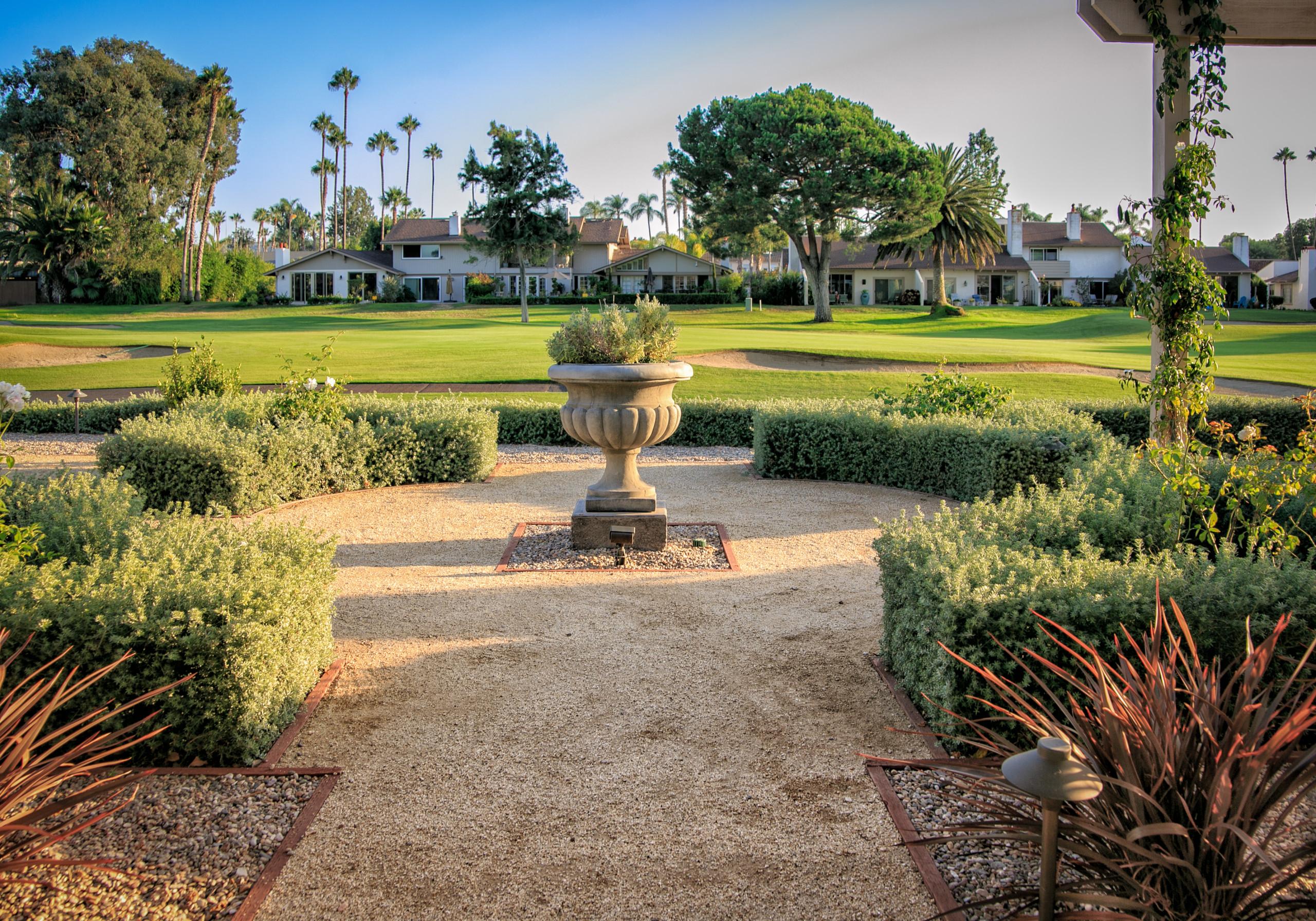 Calming French Garden