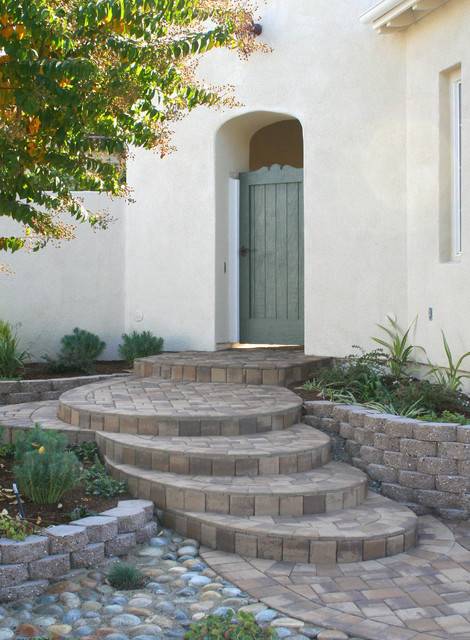 Calstone One Inch Paver Overlay of Steps traditional-landscape