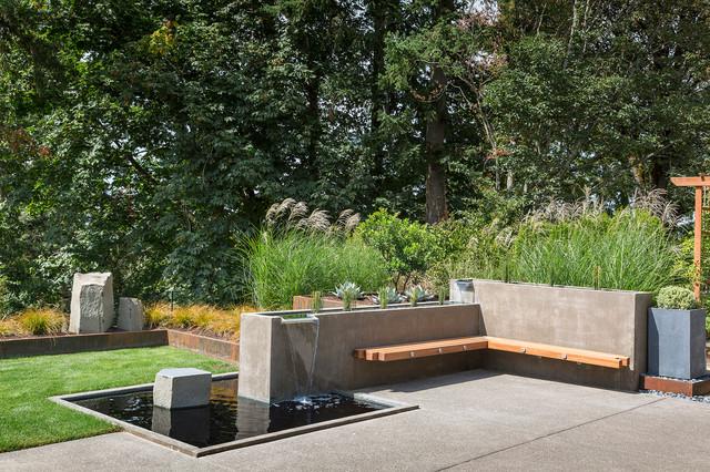 Canby custom residence contemporaneo giardino for Piani domestici di alan mascord