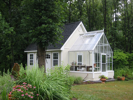 Cape cod home attached greenhouse contemporary for Tiny house with greenhouse