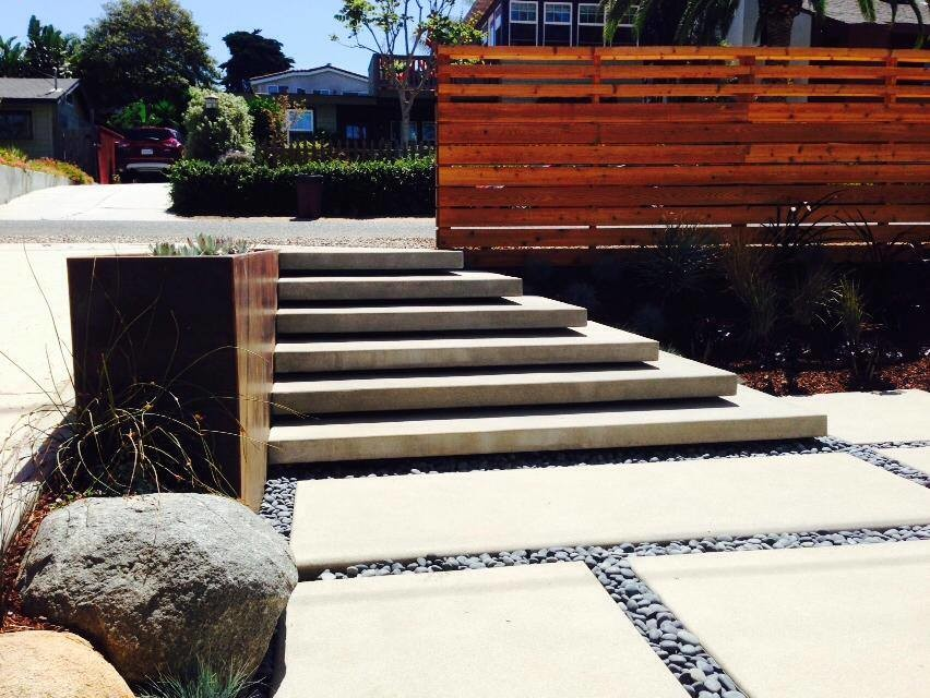 Cardiff Floating Stairs Modern Landscape San Diego By Carson Douglas Landscape Architecture