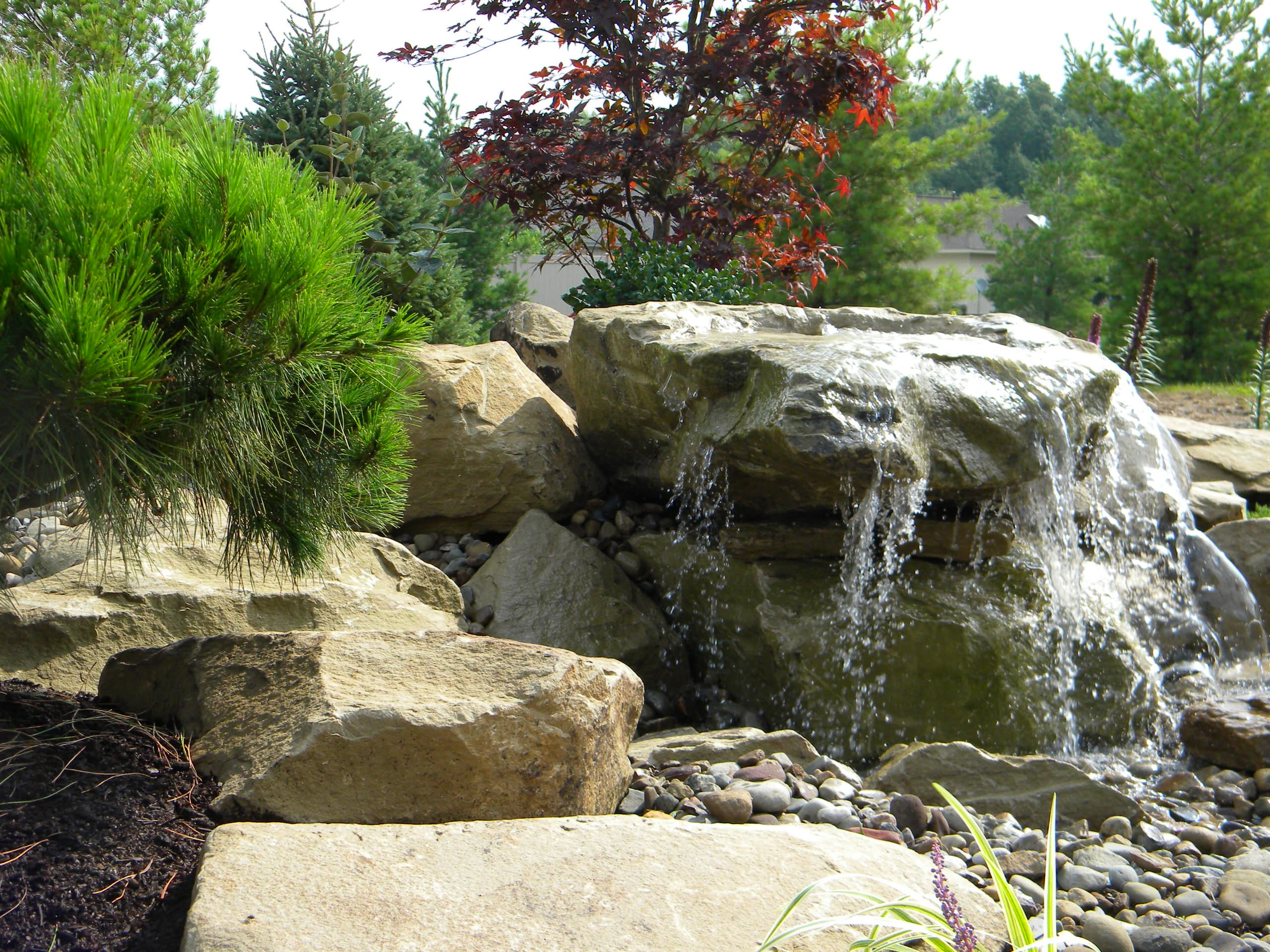 Carved Stone Water Feature