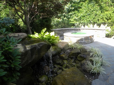 Carved Stone Waterfeature