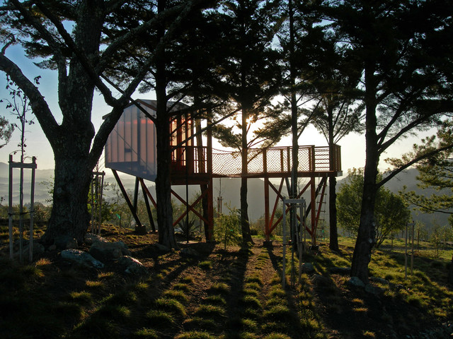 Cary Bernstein Architect Ridge House rustic-kids