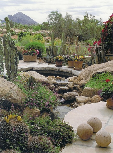 Cascading Pools Mediterranean Landscape Phoenix By Exteriors By Chad Robert