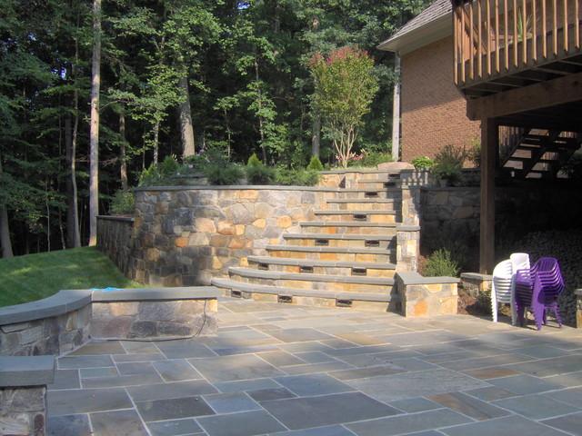 Cascading Stone Steps Traditional Landscape Dc Metro