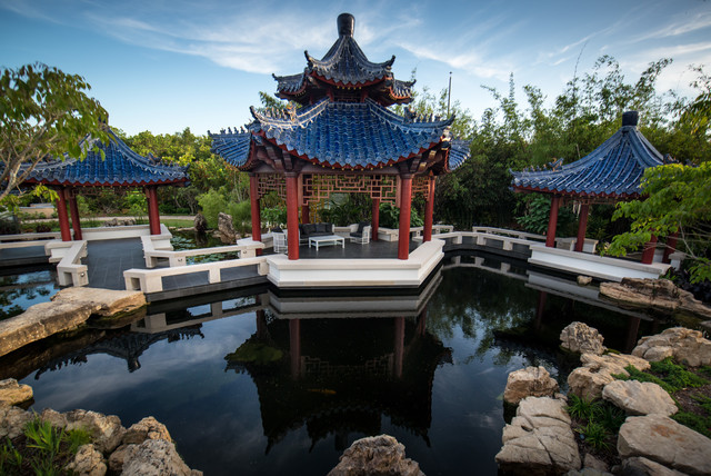 Casey Key Pagoda Garden Asian Landscape Tampa by