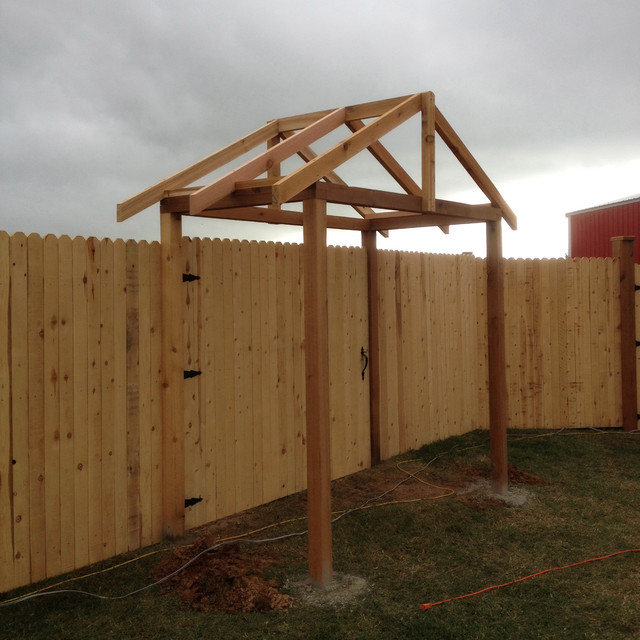 Cedar Entrance, Gate, Arbor traditional-landscape