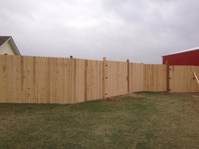 Cedar Fence traditional-landscape