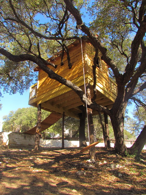 Cedar Shake Tree House Eclectic Kids Austin By