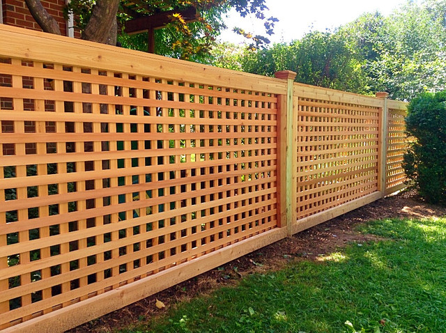 Image gallery lattice fence for How to build a lattice screen fence