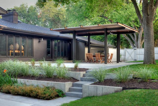 Cedar Street Remodel Contemporary Landscape Omaha