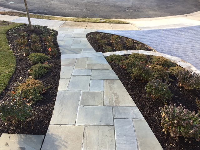 Chain Bridge Forest's Home New Curb Appeal traditional-landscape