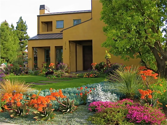 Modern Landscaping With Succulents : Charles moore style post modern architecture succulents