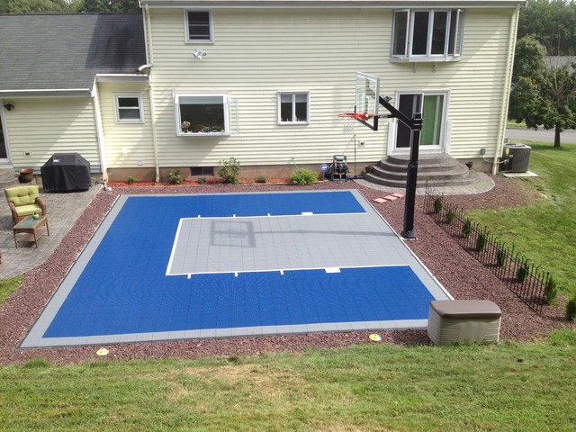 Charles t 39 s hercules platinum basketball system on a 30x25 for Basketball sport court cost