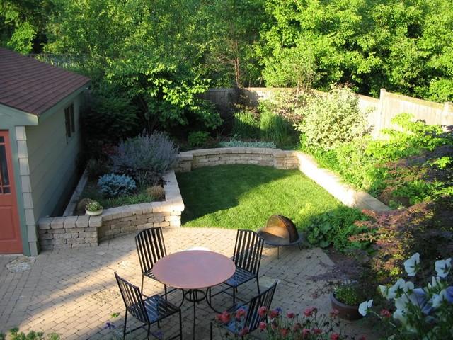 Chicago Bungalow Garden Craftsman Landscape