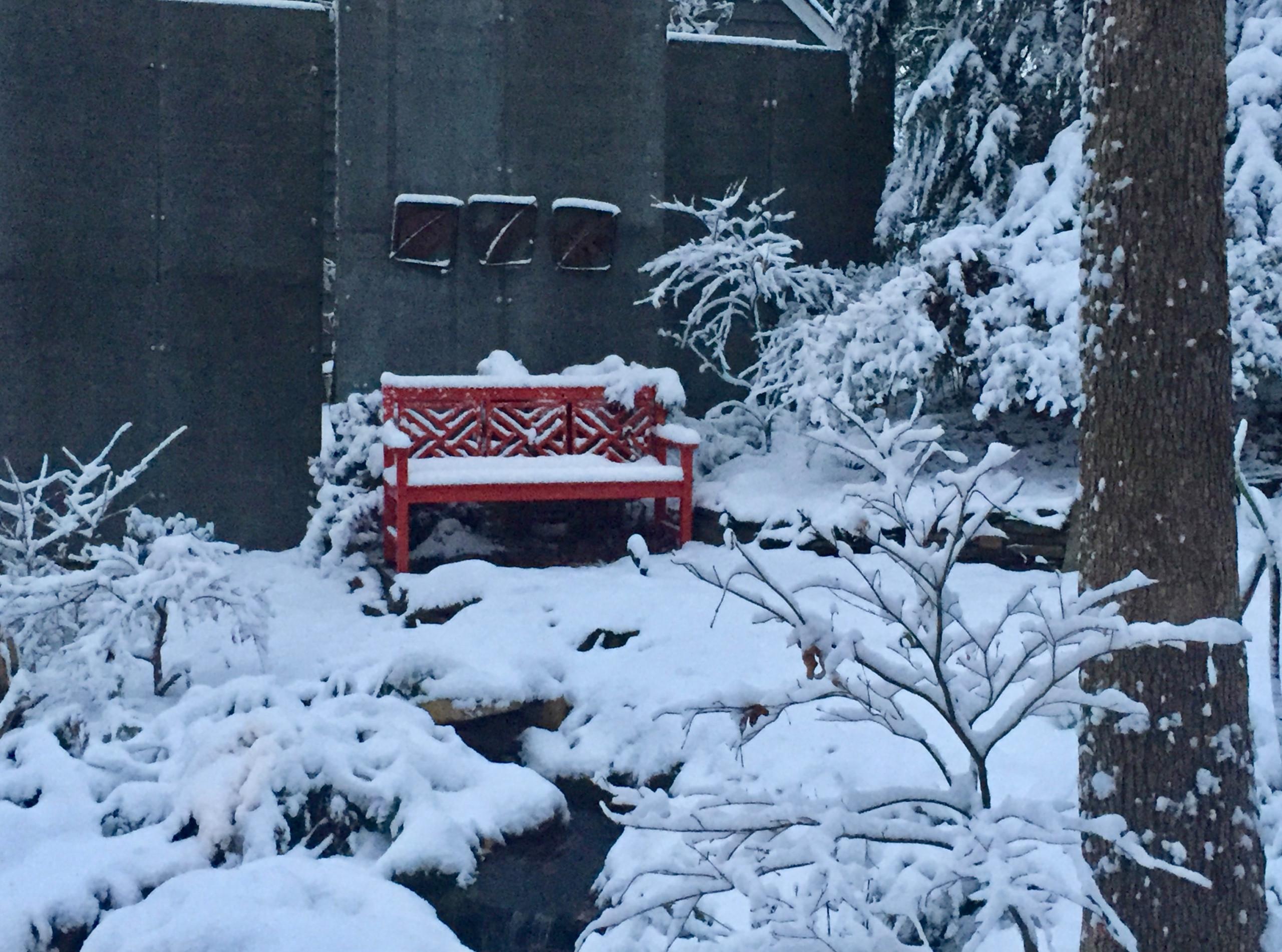 Chippendale garden bench.