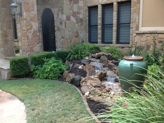 Christa S Front Yard Waterfall And Bubbling Urn Water