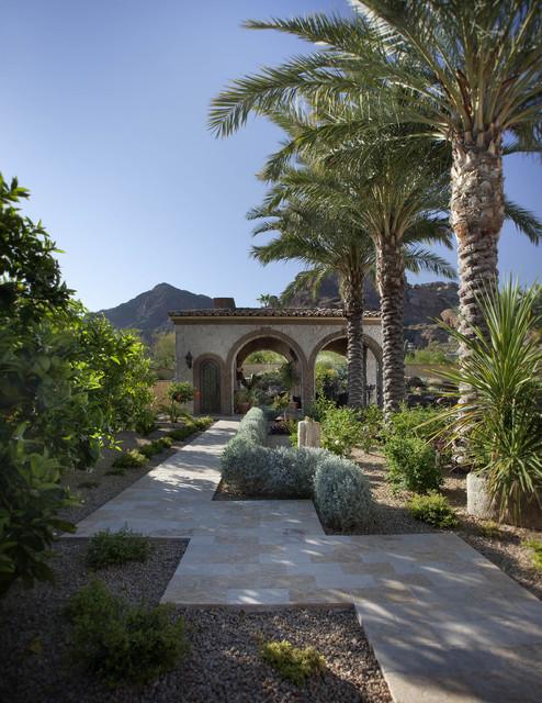 Citrus Amp Date Palm Pathway Mediterranean Landscape