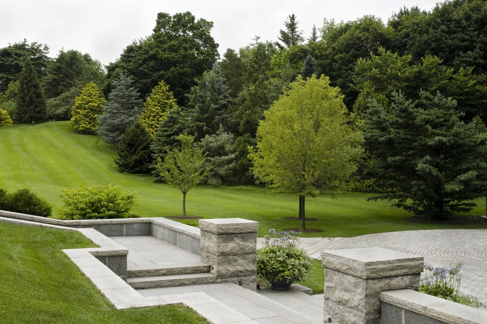 Inspiration for a huge traditional backyard landscaping in Boston.