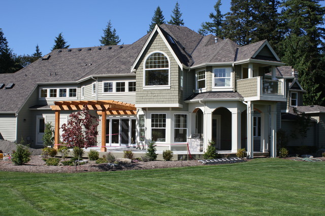 Classic NW Home contemporary-landscape
