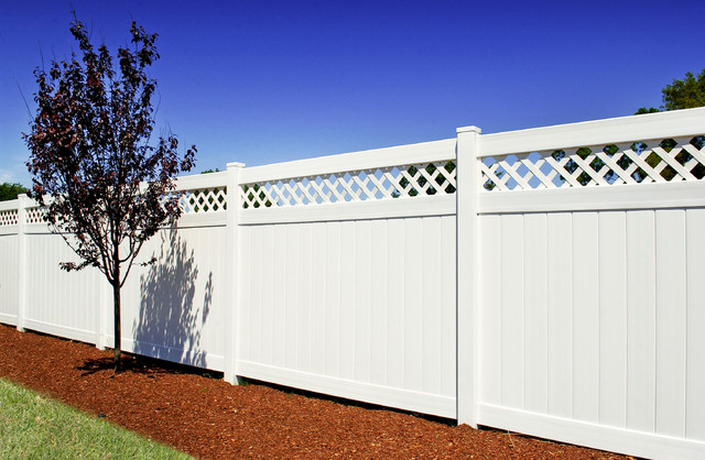 Classic White Pvc Privacy Vinyl Fence Panels With Lattice