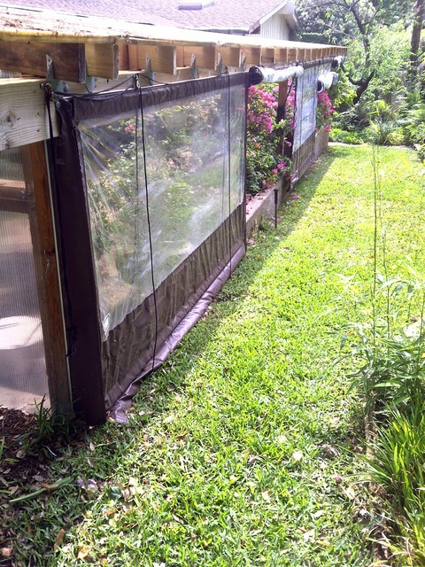 Clear Vinyl Patio Enclosure Weather Curtain Residential Plant Protection  Project Traditional Garden