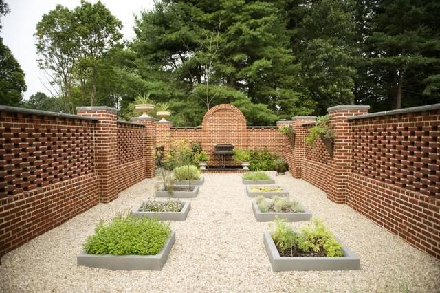 Cloister Herb Garden Traditional Landscape Boston