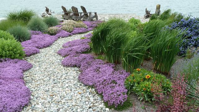 Coan waterfront landscape camano island wa traditional for Seaside garden designs