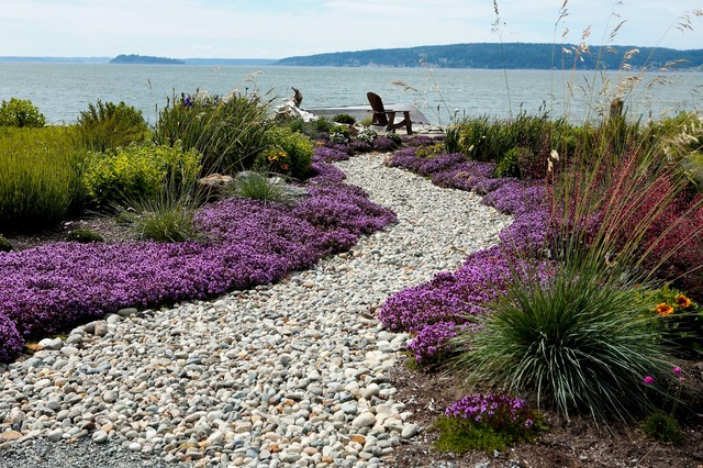beach side garden modern landscape seattle by dan