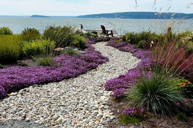 Beach side garden Modern Landscape seattle by Dan